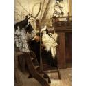 Reprodukcje obrazów Boarding the Yacht - James Tissot