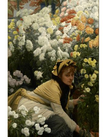Reprodukcje obrazów Chrysanthemums - James Tissot