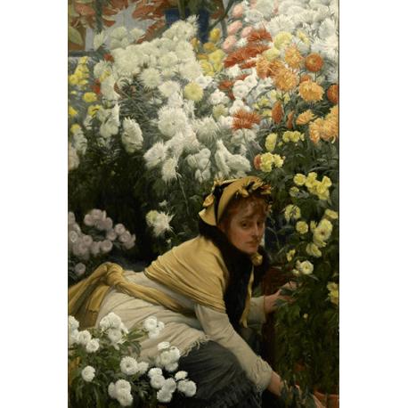 Reprodukcje obrazów James Tissot Chrysanthemums