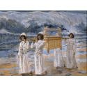 Reprodukcje obrazów The Ark Passes Over the Jordan - James Tissot