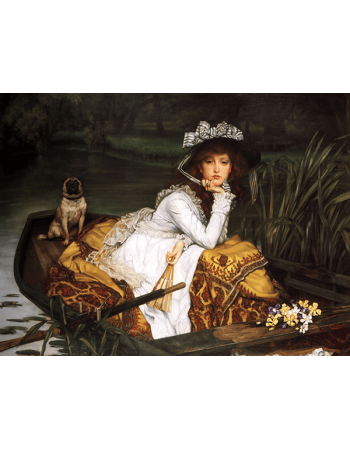 Reprodukcje obrazów James Tissot Young Lady in a Boat