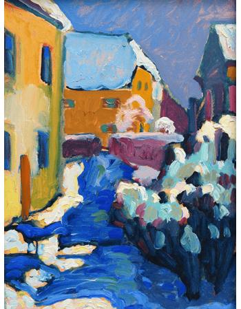 Reprodukcje obrazów Wassily Kandinsky Cemetery and rectory