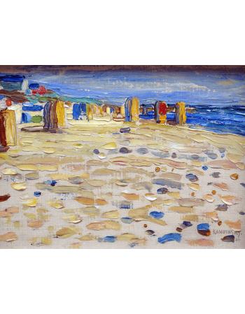 Reprodukcje obrazów Wassily Kandinsky Holland, Beach Chairs