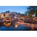 Amsterdam wieczorową porą