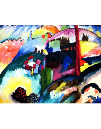 Reprodukcje obrazów Landscape with Factory Chimney - Wassily Kandinsky