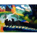 Reprodukcje obrazów Railroad at Murnau - Wassily Kandinsky