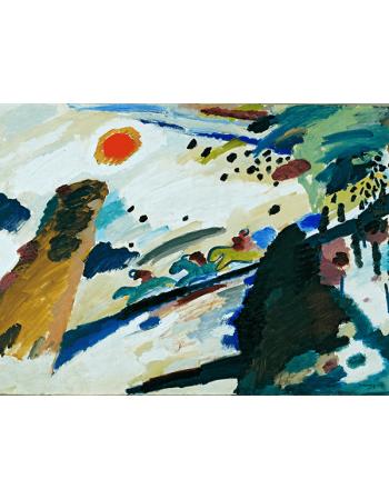 Reprodukcje obrazów Romantic Landscape - Wassily Kandinsky