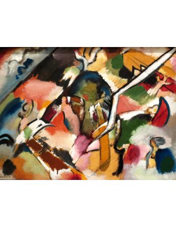 Reprodukcje obrazów Sketch for Deluge - Wassily Kandinsky