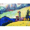 Reprodukcje obrazów Study for Landscape with tower - Wassily Kandinsky
