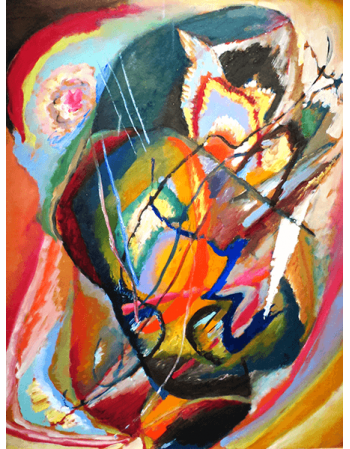 Reprodukcje obrazów Untitled Improvisation - Wassily Kandinsky