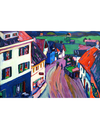 Reprodukcje obrazów View from the window of Griesbräu - Wassily Kandinsky