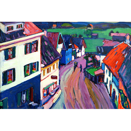 Reprodukcje obrazów Wassily Kandinsky View from the window of Griesbräu