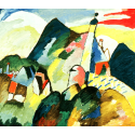 Reprodukcje obrazów View of Murnau with church - Wassily Kandinsky