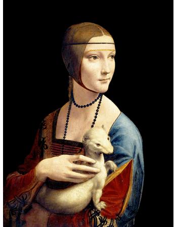 Reprodukcje obrazów Leonardo da Vinci Dama z gronostajem