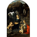 Reprodukcje obrazów Madonna w grocie I wersja - Leonardo da Vinci