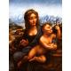 Reprodukcje obrazów Leonardo da Vinci Madonna z kądzielą