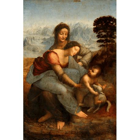 Reprodukcje obrazów Leonardo da Vinci Święta Anna Samotrzecia