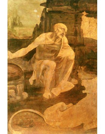 Reprodukcje obrazów Leonardo da Vinci Święty Hieronim na pustyni
