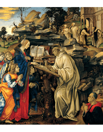 Reprodukcje obrazów Wizje świętego Bernarda - Leonardo da Vinci