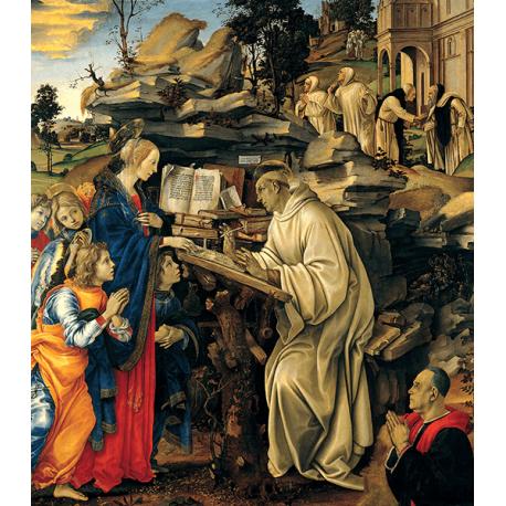 Reprodukcje obrazów Leonardo da Vinci Wizje świętego Bernarda