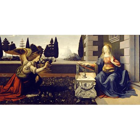 Reprodukcje obrazów Leonardo da Vinci Zwiastowanie