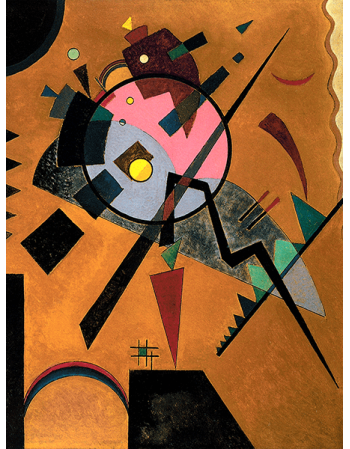 Reprodukcje obrazów Grey and Pink - Wassily Kandinsky