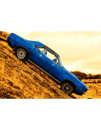 Obraz na płótnie Niebieski samochód