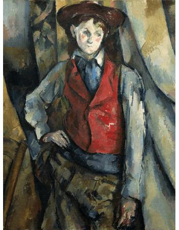 Reprodukcje obrazów Paul Cezanne Boy in a Red Waistcoat