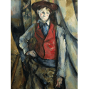 Reprodukcje obrazów Boy in a Red Waistcoat - Paul Cezanne