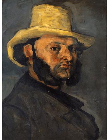 Reprodukcje obrazów Paul Cezanne Gustave Boyer in a Straw Hat