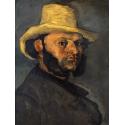 Reprodukcje obrazów Gustave Boyer in a Straw Hat - Paul Cezanne
