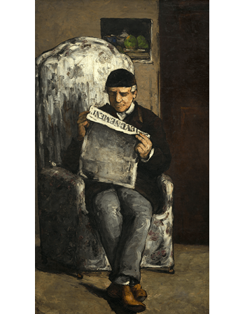 Reprodukcje obrazów Paul Cezanne The Artist's Father, Reading L'Événement