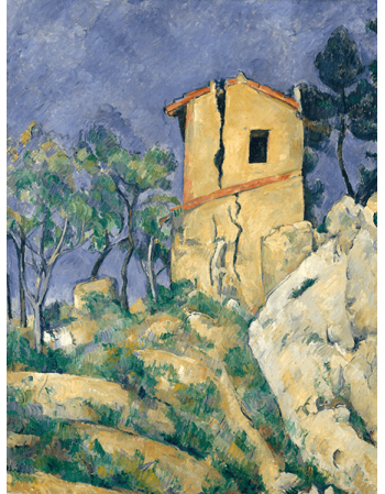 Reprodukcje obrazów Paul Cezanne The House with the Cracked Walls