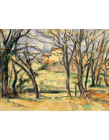 Reprodukcje obrazów Paul Cezanne Trees and Houses Near the Jas de Bouffan