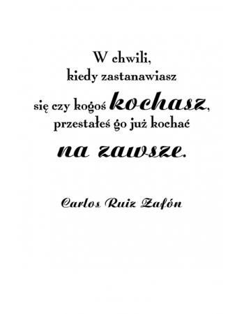 W chwili - Carlos Ruiz Zafón