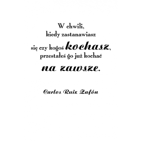 obraz na plotnie - cytaty - W chwili - Carlos Ruiz Zafón
