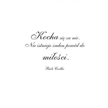 obraz na plotnie - cytaty -Kocha się za nic - Paulo Coelho