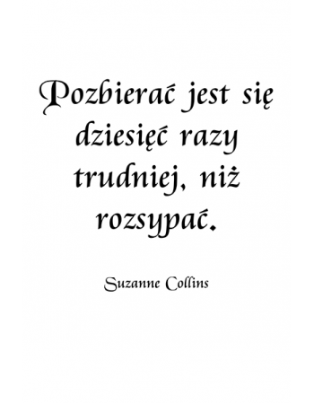 Pozbierać jest się - Suzanne Collins