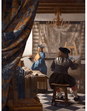 Reprodukcje obrazów Jan Vermeer Alegoria malarstwa