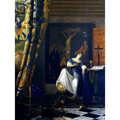 Reprodukcje obrazów Jan Vermeer Alegoria wiary