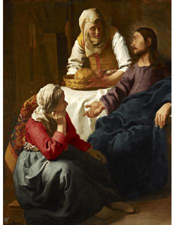 Reprodukcje obrazów Jan Vermeer Chrystus w domu Marty i Marii