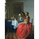 Reprodukcje obrazów Jan Vermeer Dama i dwóch panów