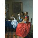 Reprodukcje obrazów Dama i dwóch panów - Jan Vermeer