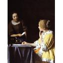 Reprodukcje obrazów Dama ze służącą - Jan Vermeer