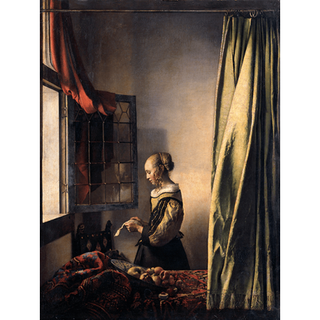 Reprodukcje obrazów Jan Vermeer Dziewczyna czytająca list