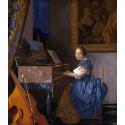 Reprodukcje obrazów Dziewczyna siedząca przy klawesynie - Jan Vermeer