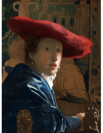 Reprodukcje obrazów Jan Vermeer Dziewczyna w czerwonym kapeluszu