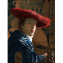 Reprodukcje obrazów Dziewczyna w czerwonym kapeluszu - Jan Vermeer