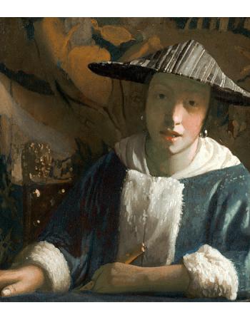Reprodukcje obrazów Jan Vermeer Dziewczyna z fletem