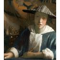 Reprodukcje obrazów Dziewczyna z fletem - Jan Vermeer
